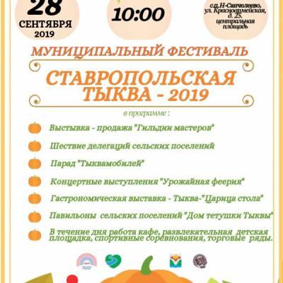 """Фестиваль """"Ставропольская тыква-2019"""""""